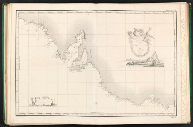 Map showing Victoria declared as 'Terre Napoleon'