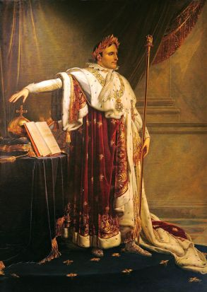 Marie-Victoire JAQUOTOT, 1772-1855, Anne-Louis GIRODET-TRIOSON (after), Napoleon I in coronation robes 1813-14, ...