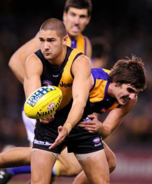 Tiger tactics: Richmond's Shaun Grigg was brought in to fill a specific role.