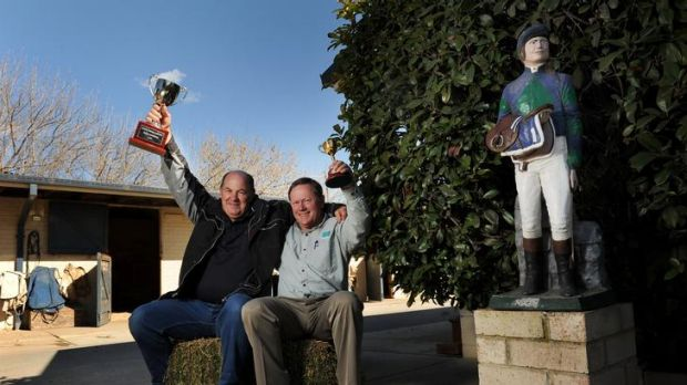 10th May 2012, Sport, David Polkinghorne. Canberra Times Photo by Colleen Petch. (R) Norm Gardner and (L) Frank ...