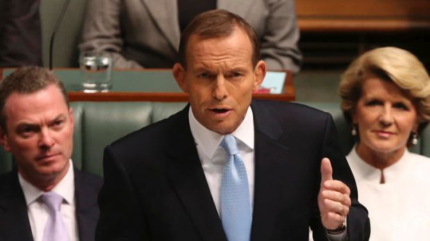 Opposition Leader Tony Abbott delivers his Budget reply speech.