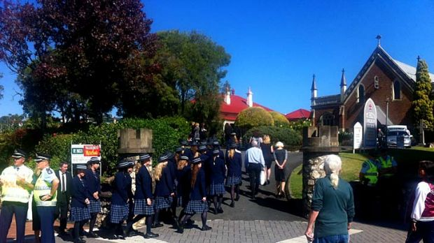 Students from Ispwich Girls Grammar School will form a guard of honour during Allison's Baden-Clay's funeral at St ...
