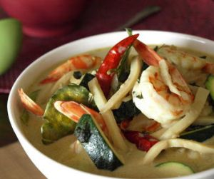 Marion Grasby's Thai green curry with seafood