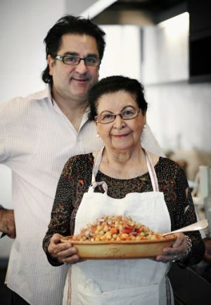 Guy Grossi with his mamma.
