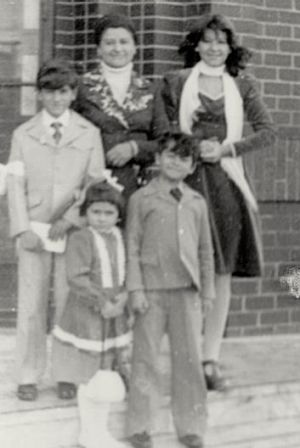 Guy Grossi with mamma and siblings Lucia (back row) and Liz and Tony (front row).