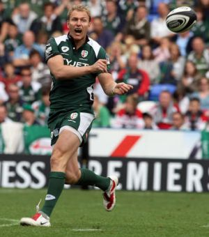 Peter Hewat in action for London Irish in 2009.