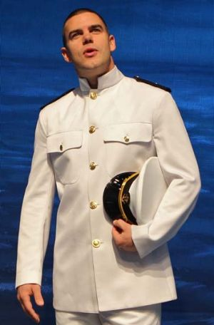 Navy suits him ... Ben Mingay in <em>An Officer and a Gentleman</em>.