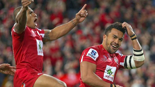 Will Genia and Digby Ioane ... identified by the Chiefs as the two Reds most likely to break through their defence.