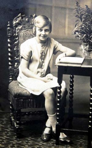 Chris and Mick Jagger's mother, Eva, as a young girl.