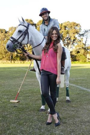Ride on ... Jesinta Campbell is an ambassador for the Jeep Polo Series.