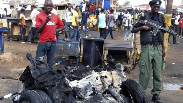APRIL 9 Nigeria ... A car bomb killed at least 38 people when it was detonated on a busy road leading to a church. ...