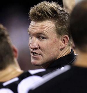 Collingwood Magpies coach Nathan Buckley.