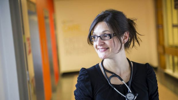 Healthy outlook ... Masa Lasica, who fled civil war in Bosnia and Herzegovina, is now a medical registrar at Canberra ...