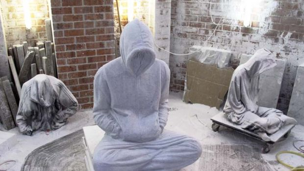 'Soloist' ... the central figure in Alex Seton's installation 'Elegy on Resistance'