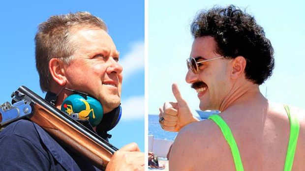 Russell Mark could play Borat at the London Olympics.
