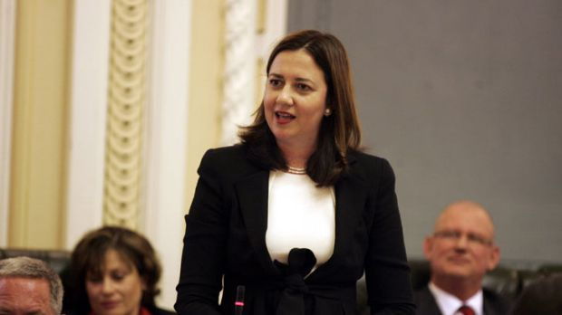Annastacia Palaszczuk makes her first appearance in Parliament as Opposition Leader.
