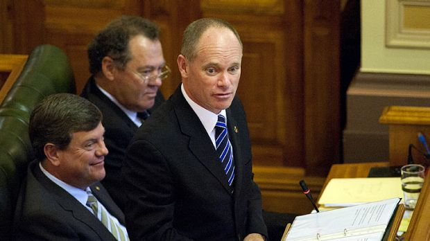 Premier Campbell Newman makes his first appearance in state parliament.