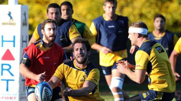 15 May 2012 SPORT Canberra Times photograph by GRAHAM TIDY Story by Jon Tuxworth/Chris Dutton. Brumbies training at ...