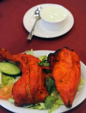 Tandoori chicken at the Tandoor Indian in Belconnen.