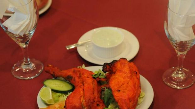 Tandoori chicken at the Tandoor Indian restaurant  in Belconnen.