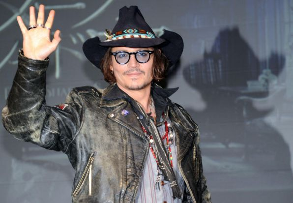 "Johnny Depp at the press conference on his latest movie, ""Dark Shadow"" in Tokyo on May 13, 2012."