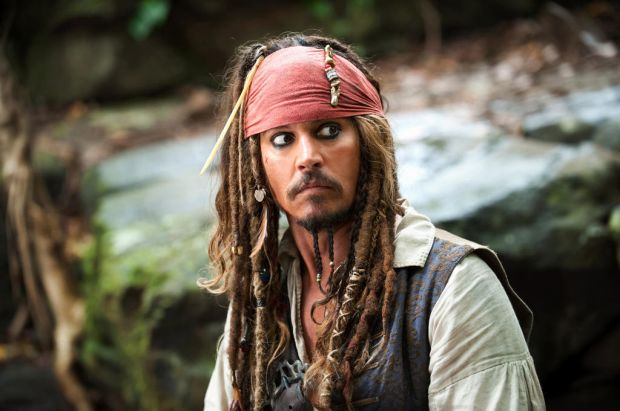 "Johnny Depp portrays Captain Jack Sparrow in a scene from, ""Pirates of the Caribbean: On Stranger Tides""."