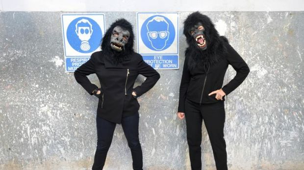 Founding members of  art activist group Guerrilla Girls, Kathe Kollwitz and Frida Kahlo, at the Victorian College of the ...