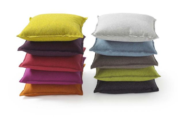 Felt-look Wool Punch pillow covers by Fluf (kindredgifts.com).