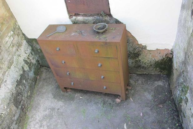 A model of the kind of furniture that would have been used in 19th century Sydney houses. Located at Foundation Park, ...