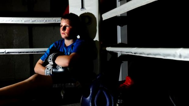 Rory Booth, 11, of Theodore, at the Winnunga boxing gym in Fyshwick.