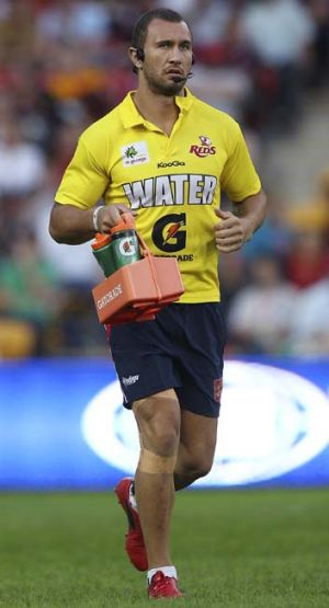 Water boy  ... Quade Cooper assisted for the Reds against the Chiefs.