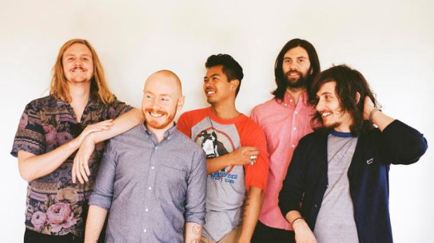 The Temper Trap — from left, Johhny Aherne, Joseph Greer, Dougy Mandagi, Toby Dundas and Lorenzo Sillitto — have changed ...