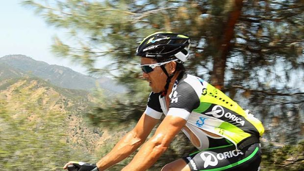 Final outing ... Robbie McEwen riding for Orica GreenEDGE during this week's Tour of California.