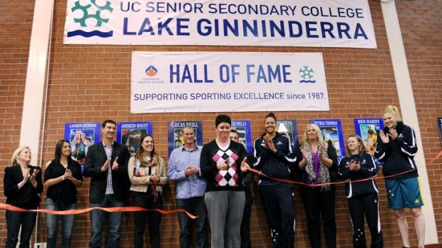 UC Lake Ginninderra College open's a Hall of Fame which correspond's with the school's 25th anniversary.  Petria Thomas ...
