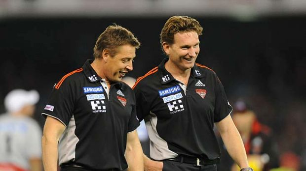 James Hird and Mark Thompson like, respect and importantly trust each other.