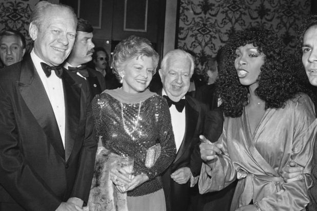 Gerald and Betty Ford with Donna Summer and Cedars-Sinai Medical.