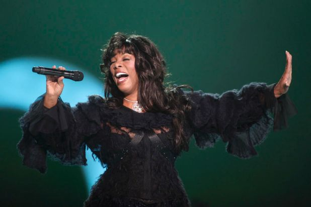 Donna Summer performs at the conclusion of the Nobel Peace concert in Oslo, Norway in 2009.