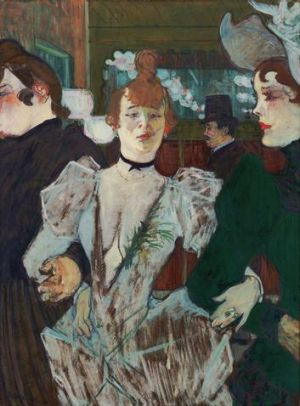 Henri de Toulouse-Lautrec La Goulue at the Moulin Rouge (La Goulue entrant au Moulin-Rouge) 1891-92; oil on cardboard ...