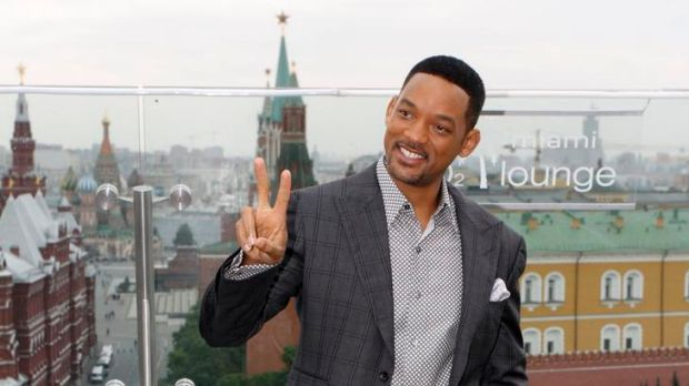 Will Smith promotes Men in Black III in Moscow.