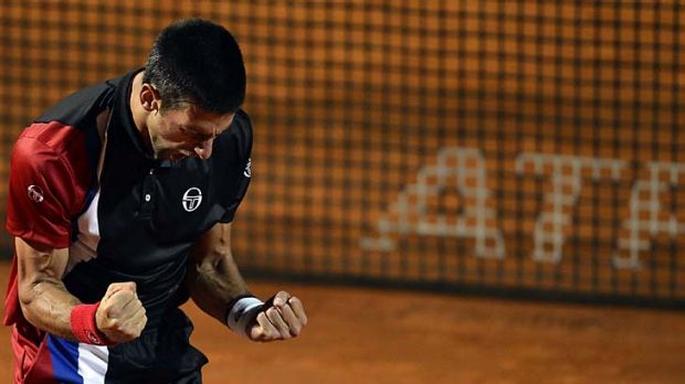 Novak Djokovic has a set up a rematch of the Rome Masters final with Rafael Nadal.