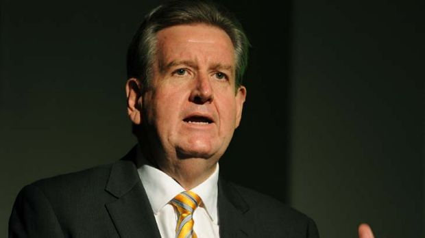 Cuts ... Barry O'Farrell has angered former premiers by saying he would reduce combined entitlements by $500,000.