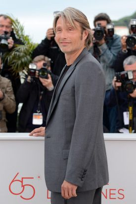 "Danish actor Mads Mikkelsen poses during the photocall of ""Jagten"" (The Hunt) presented in competition at the 65th ..."