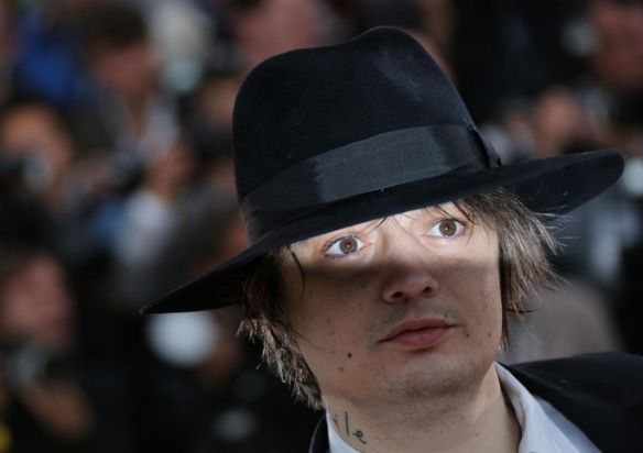 "British actor Pete Doherty poses during the photocall of ""Confession of a Child of the Century"" presented in the Un ..."