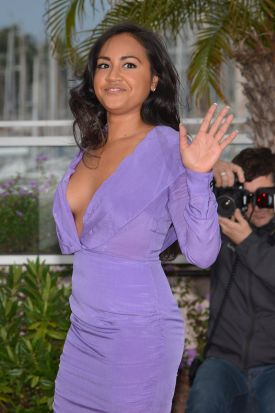 """Australian actress Jessica Mauboy poses during the photocall of """"The Sapphires"""" presented out of competition at the 65th ..."""
