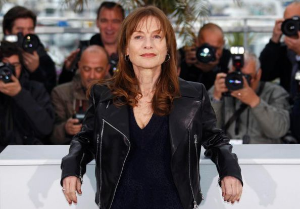 "Cast member Isabelle Huppert poses during a photocall for the film ""Amour"",  by director Michael Haneke, in competition ..."