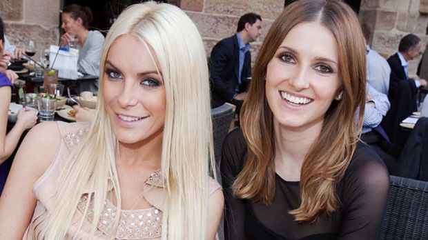 Gorgeous girls ... Crystal Harris and Kate Waterhouse.