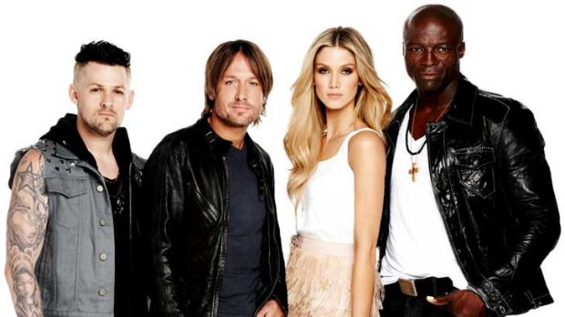 <i>The Voice</i> coaches: Joel Madden, Keith Urban, Delta Goodrem and Seal.