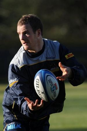 Brumbies player Pat McCabe  at team training at Griffith Oval.