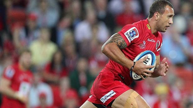 Quade Cooper ... among a bevy of Queensland's rugby stars ho have remained loyal to the Reds.