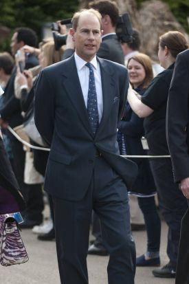 Prince Edward, Earl of Wessex arrives to the Flower Show.